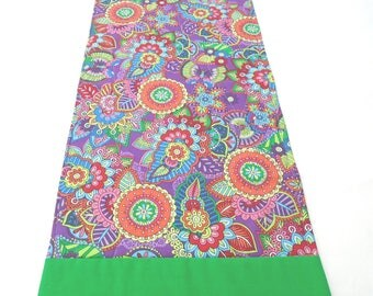 Colorful floral madalas Diwali rangoli altar runner shrine table cloth altar cloth