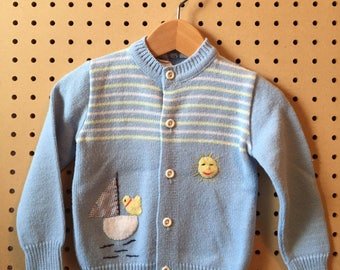 Vintage Simpsons cardigan with appliqué