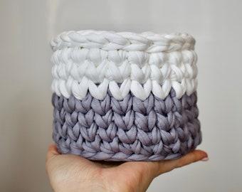 free crochet tutorial, Crochet Basket Pattern, Storage Baskets, Crochet Pattern, Home Decor, Basket, Gift, T-shirt Yarn, Pattern