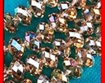 10 Brown 6 x 8 mm swarovski pearls