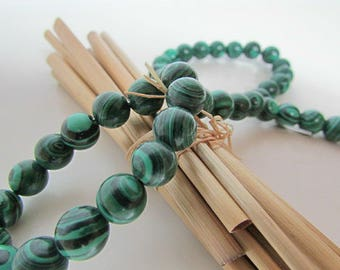 Malachite, malachite bead, bead 10 mm, 8 mm gem stone, 6 mm, 4 mm