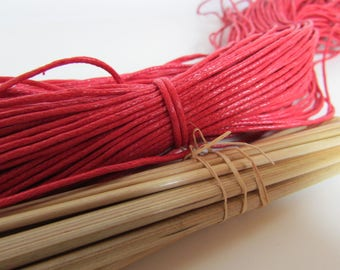 10 m cotton wire 1.5 mm, cotton, red, orange, green, pink cord