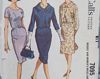 Vintage (1963) McCall's Misses' and Women's Sz. 12 (32/25/34) Dress and Jacket Pattern