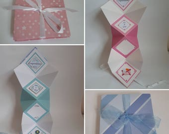 Hand made Baby Girl Keepsake card