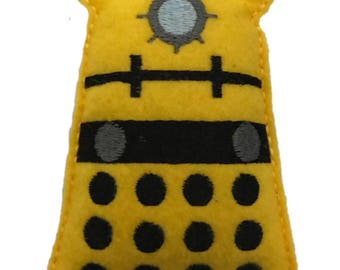 Dr Who Yellow Dalek inspired Catnip Toy