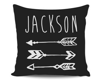 Arrows Baby Shower Gift for Mom, Personalized Boy Name Pillow, Custom Nursery Decorative Pillow Cover, Throw Pillow, New Baby Announcement