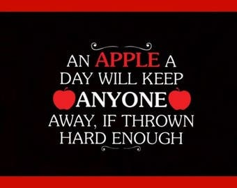 An Apple A Day.... Refrigerator Magnet