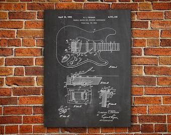Fender Tremolo Canvas painting, Fender Tremolo, Fender, Fender Art, Fender Guitar Art, Fender Guitar Print,Fender Patent Print,Decor