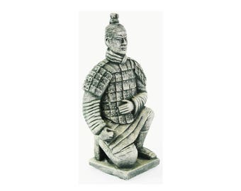 Chinese Warrior Concrete Asian Garden Statue Cement Figurine Cast Stone  Sculpture Figure