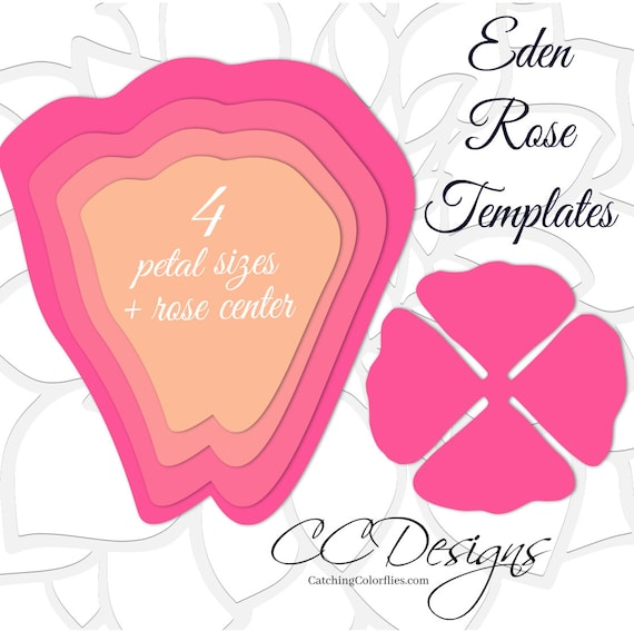 Giant paper rose templates easy printable pdf rose template for Giant paper flower template free