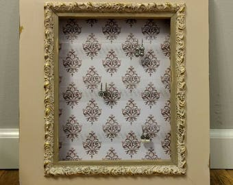 Vintage Picture Frame Earring Holder and Storage