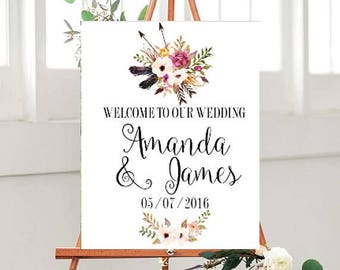 Wedding Welcome Printable, custom Wedding sign, Welcome to Our Wedding Sign, Wedding Printables, Country Wedding Sign
