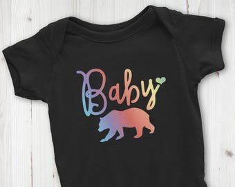 Baby Bear Bodysuit, Baby Bear Shirt, Baby Shower Gift, New Mom Gift, Custom Bodysuit, New Baby Gift