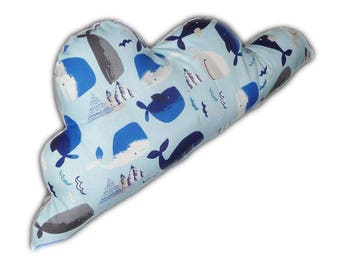 THE whales cloud pillow