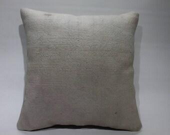 """16"""" x 16"""" Pillow/Cushion Cover Handmade Rug Pillow Cushion Case Decorative Kilim Pillows Flat Woven Turkish Kilim Pillow 2572"""