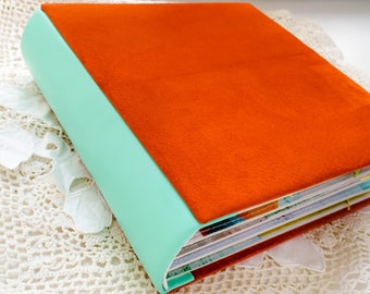 Sold! Bright album for girl, album for a teenager, leather album, album with leather cover