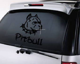 I love my Pit, Pit bull /  pitbull decal / pitbull / dog decal / pitbull decal / pitbull sticker / pitbull car decal / car decal / decal