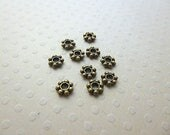 Lot 10 intercalaires métal bronze 5 mm - INTB-0374