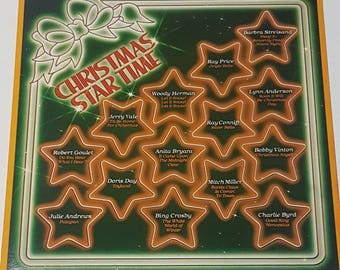 Christmas Star Time Various Artist Vintage Vinyl Record 1981 Christmas Records