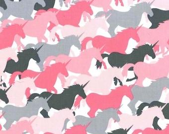 MICHAEL MILLER fabric CX6364-GIRL-D : Unicorn herd girl / Cut 50x55 cm