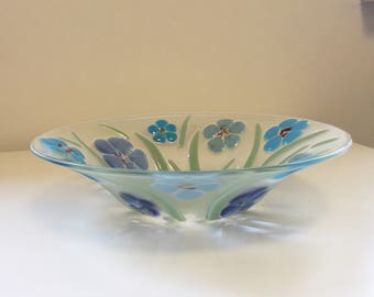 Glass bowl 'Spring Flowers'