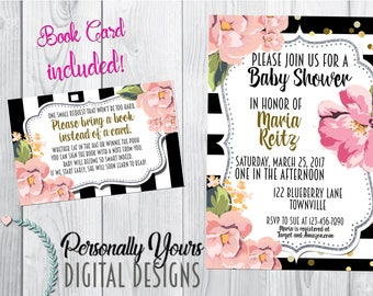 Floral Chic Baby Shower Invitation