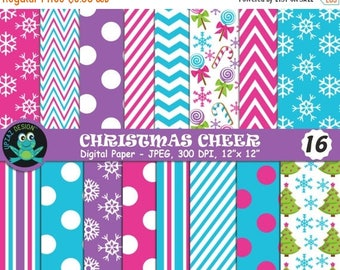 75% OFF SALE Christmas Digital Papers, Christmas, Christmas Scrapbook Papers, Background, Commercial Use - UZDP1856