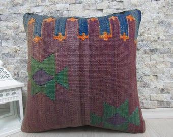 superb antique kilim rug natural dyed kilim pillow 16x16 turkey pillow handmade kilim cushion bohemian pillow boho decorative pillow