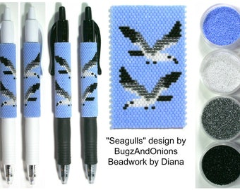 Seagulls by BugzAndOnions beaded PEN kit (pattern sold separately)