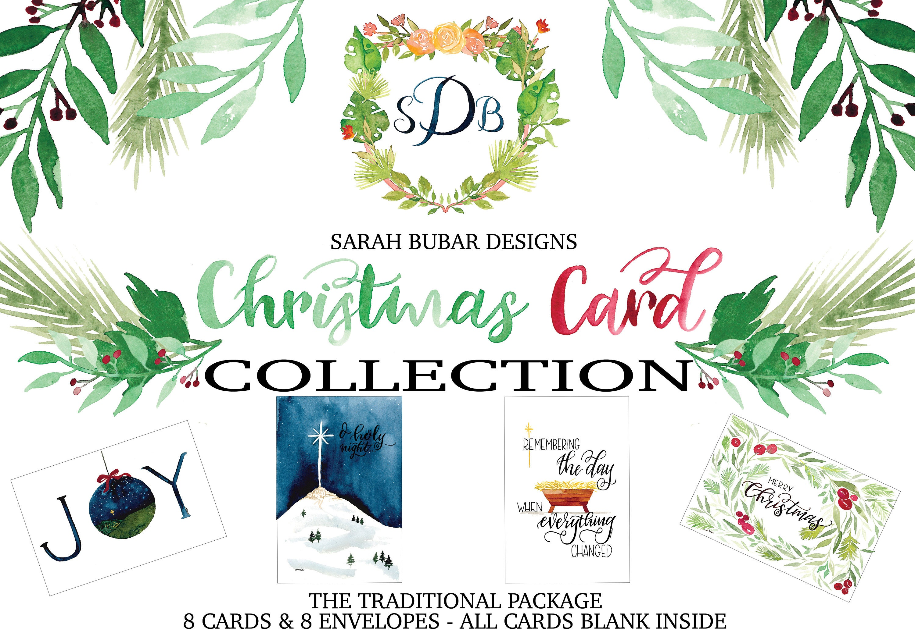 Greeting cards sarah bubar designs christmas card collection the traditional package kristyandbryce Gallery