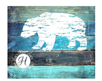 DISTRESSED Bear SVG   cutDFX  file  t-shirts  animals wild life forest scrapbook vinyl decal wood sign cricut cameo Commercial use