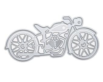 Motorbike Harley Davidson metal die cut  Scrap booking Cards Craft Die Cutter cutting die Card making dies Paper Die Cutter
