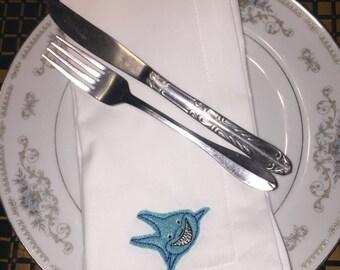 Shark dinner napkins