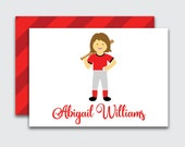 Softball Calling Cards for Girls / Personalized Softball Player Enclosure Cards / Sports Birthday Gift Tags for Kids (Item #1708-022CC)
