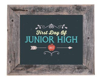 Junior High First Day of School Sign/Prop - Instant Download