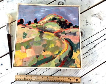 Landscape painting with path - Acrylic Painting on Canvas