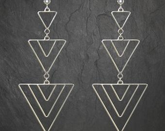 Multi-triangle earrings