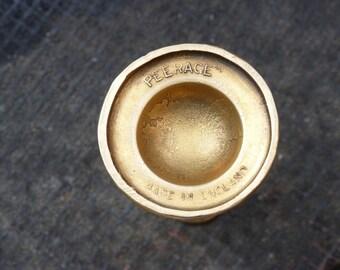 "Vintage ""Peerage"" brass miniature candlesticks (pair of)"