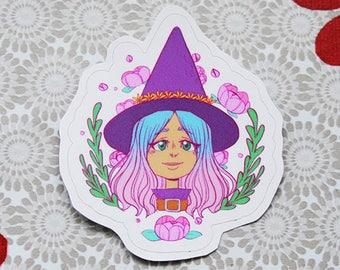 Flower Witch sticker