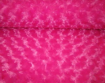 Minky crushed style, very soft pink fur