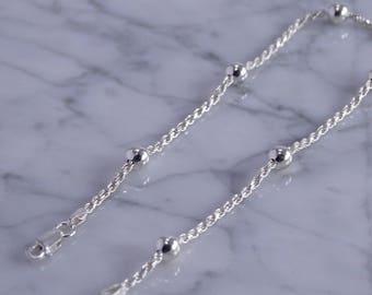 """Sterling Silver Anklet (9.25"""")"""