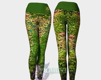Ivy Yoga Leggings - Poison Ivy Leggings, Ivy Leggings, Cosplay Leggings, Plus Size Leggings, Plus Size Cosplay, Activewear, Nature Leggings