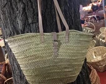 Market Bag- Market Basket- Straw Basket-Palm leaf basket- Grocery Bag- Beach Bag