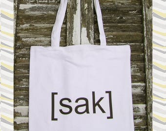 tote bag for market shopper bag in organic cotton french text