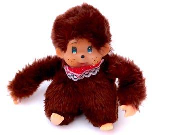 Vintage Monchhichi Monkey Ape Gorilla Sucking Thumb Plush Doll Soft Toy Plushie 1970s 70s Suck Sekiguchi Monchichi Japan Thumkey Russ Berrie