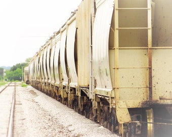 Photo Print | Wall Art | Canvas | Train | Hazy | Sunshine | Photography | Wall Hanging | Home Decor