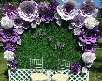 Large Paper Flower Backdrop / Giant Paper Flowers / Paper Flower Wall / Wedding Wall / Wedding Arch / Bridal shower