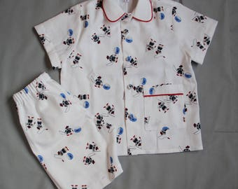 Summer cotton T 4, 6 and 8 pajamas