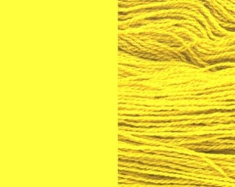 Wool Yarn, lemon yellow, fingering 2-ply worsted pure lambswool 8/2 100g/350m