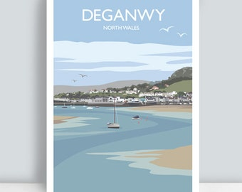 Deganwy, Conwy, North Wales. Travel Art Print/Poster. PLUS FREE POSTAGE!